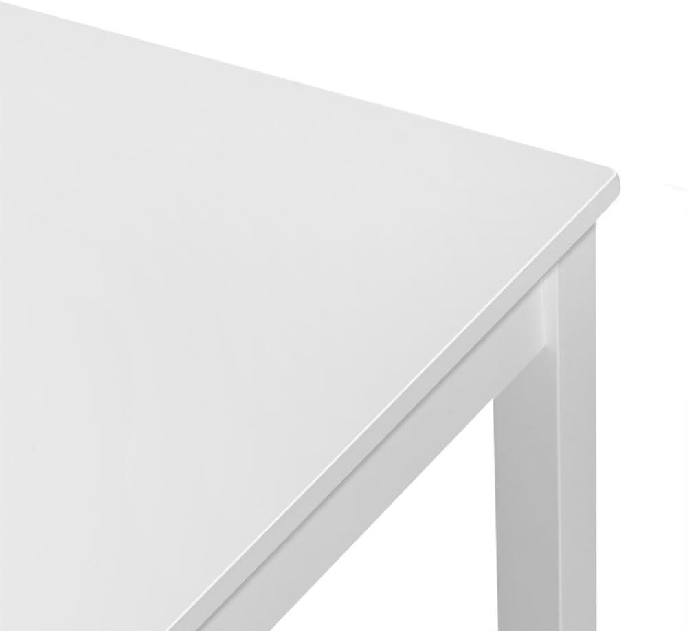 PanaCasa - Juegos de Mesa y 4 Sillas Color Blanco para Comedor Sala Cocina Restaurante Madera de Pino Maciza Contemporáneo: Amazon.es: Juguetes y juegos