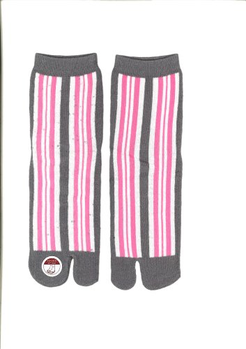 Corazon Womens Tabi Socks with Japansese Design 22-25cm Line Pink sEJuSy86f