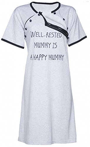 Happy Mama. Para mujer Camisón/bata premamá lactancia VENDEN POR SEPARADO. 474p Camisón - Marina
