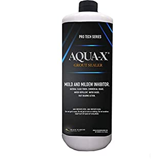 1 Quart AQUA-X Grout Sealer, Clear Grout Sealer, Commercial Grade, Mold and Mildew Inhibitor