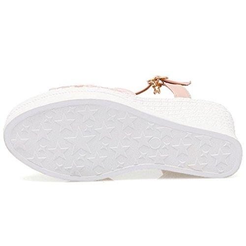 Pink Moda Tacco Sandali Donna Zanpa Zeppa Xw7RSx