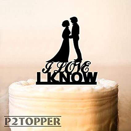 Star Wars Wedding Cake.Amazon Com 659parkerrob Wedding Cake Topper Star Wars Leia And Hans