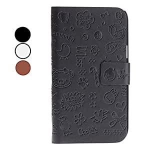 Cute Cartoon Pattern PU Leather Case for Samsung Galaxy Note 2 N7100 (Assorted Colors) --- COLOR:Black