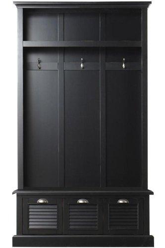 Shutter Locker Storage, 74H x 42W x 17D, WORN BLACK -  Home Decorators Collection, 1157310210