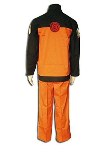 CTMWEB Japanese Anime Naruto Vol 2 Cosplay Costume Uzumaki Naruto Set XX-Large