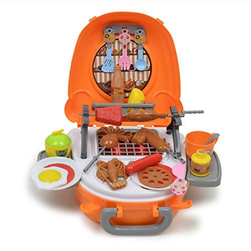 kesoto 40 Piezas Juguete De Cocina De Barbacoa De Simualción Juego De Pretender Para Niños Bebés