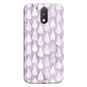 Cover It Up - Raindrops Print Purple Moto G4/G4 Plus Hard Case