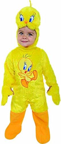 [Looney Tunes Tweety Bird Romper Costume, Yellow, 12-18 Months] (Toddler Boy Big Bird Costume)