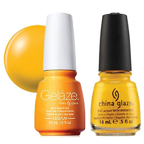 China Glaze Gelaze Tips and Toes Nail Polish, Sun Worshiper, 2 Count (Best Mustard Yellow Paint Color)