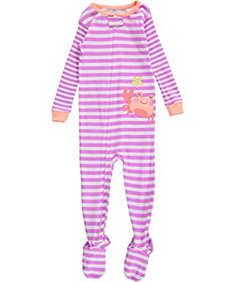 Amazon.com: Carter's Baby Girls' Striped Cotton Footie (Baby ...