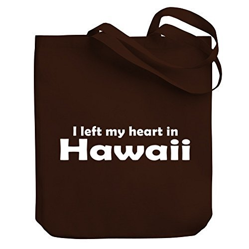 Valentine Herty Shopping bag I LEFT MY HEART IN Hawaii Canvas Tote Bag by WenNuNa