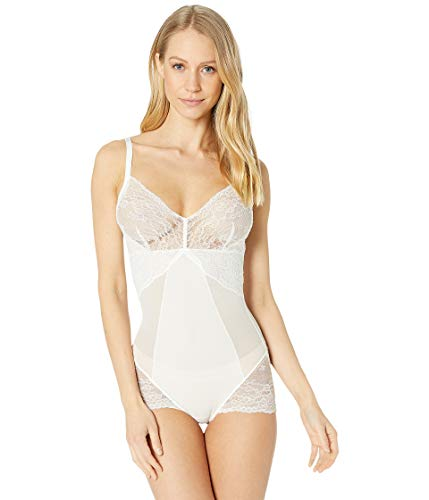 SPANX Women's Spotlight On Lace Bodysuit Clean White X-Large