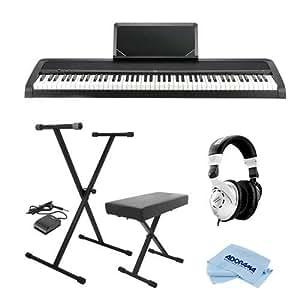 korg b1 88 key digital piano with enhanced speaker system and hammer action black. Black Bedroom Furniture Sets. Home Design Ideas