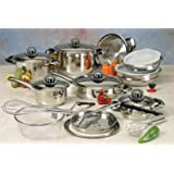 Nutri Stahl 22 Pc Stainless Waterless Professional Cooking System