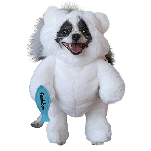 (Pandaloon Polar Bear Dog Pet Costume - AS SEEN ON Shark Tank - Walking White Bear with Arms (Size 1 (13-14.5 in Total Height), White Polar)