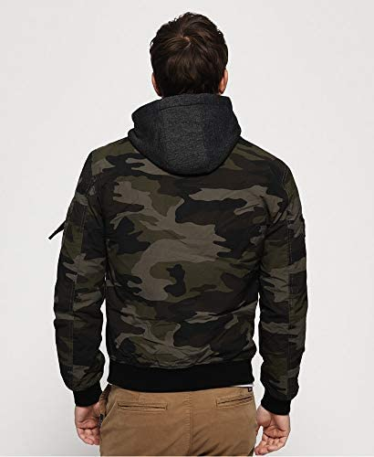 Superdry Hooded Air Corps Bomber Chaqueta Hombre Camo