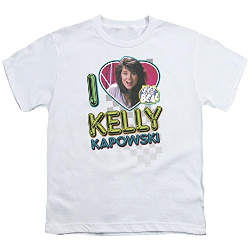 Saved By The Bell I Love Kelly Big Boys Youth Shirt (White, Small)