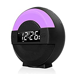 Galahome FM Radio Dual Alarm Clock, Loud Alarm for Heavy Sleepers, Bluetooth Speaker, USB Charging Port, Snooze & Dimmable, Night Light for Kids, Battery Backup Moonlight Alarm Clock for Bedroom