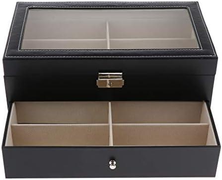 chiwanji Portaoggetti Di Lusso Per Orologi Da 12 Scomparti Con Supporto Organizzatore Per Orologi Con Cassetto