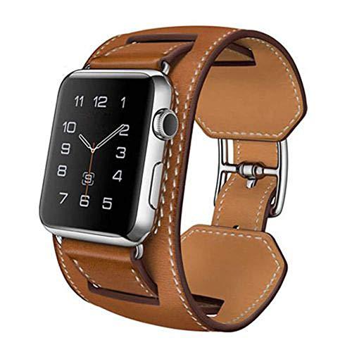 (Watch Leather Band Strap, Cuff Bracelet Wrist Watch Band for Smart Watch Apple Watch)