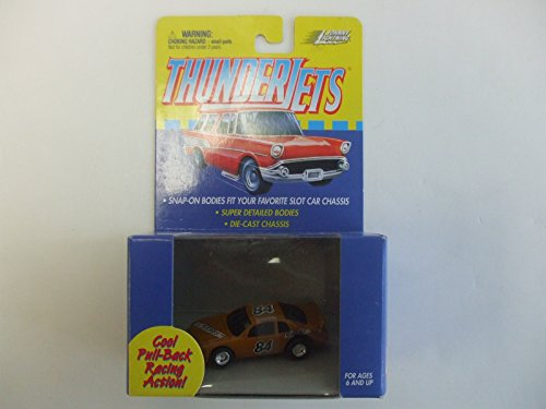 Johnny Lightning ThunderJet 500 - HO Scale - Pull Back Action Nascar Stocker Light Brown