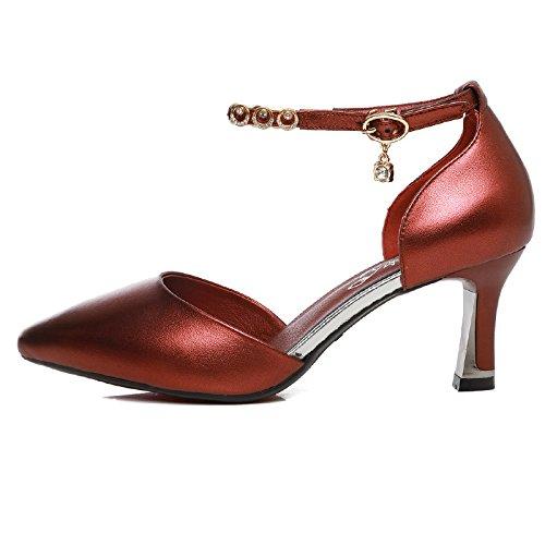 Cuatro 39 Latino 37 Cuadrados Inferior Alto Baile de Baile de Zapatos Tacón Zapatillas Suave Mujer Zapatos Cuero KPHY de para de Estaciones Mujer Danza Adulto Parte de Baile tqwZFxp