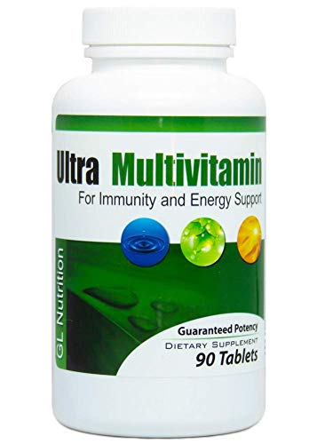 Ultra Multivitamin by GL Nutrition | Complete Daily Multivitamin Formula for Men & Women 50 | 67 All-Natural Ingredients to Boost Immunity, Increase Energy, Support Healthy Body Function | 90 Tablets