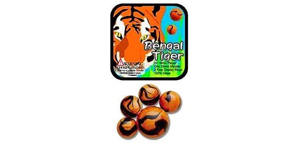 Amazon.com: Mega de vidrio canicas tigre de Bengala Juego ...