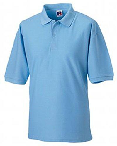 Jerzees Pique Polo Shirt M Sky Blue