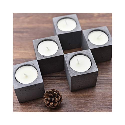 - Flodance Square Round Concrete Candle Holder Silicone Mold Home Wedding Decoration Cement Planter Candlestick Molds