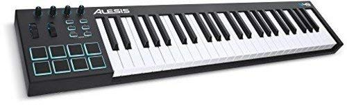Alesis V49 | 49-Key USB MIDI Keyboard & Drum Pad Controller (8 Pads / 4 Knobs / 4 Buttons) (Renewed)