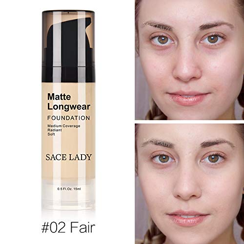 Liquid Foundation Cream Is Waterproof And Durable, Liuliuliu 15Ml Face Eye Foundation Concealer Highlight Contour Liquid Stick Makeup