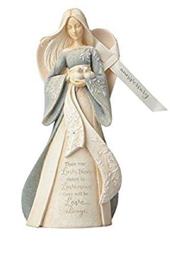 Foundations Anniversary Angel Stone Resin Figurine, 10.55