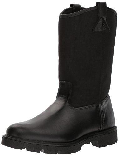 Rocky Men's Men's 10 Inch Pull-on 6300 Work Boot,Black,10.5 XW US by Rocky (Image #1)