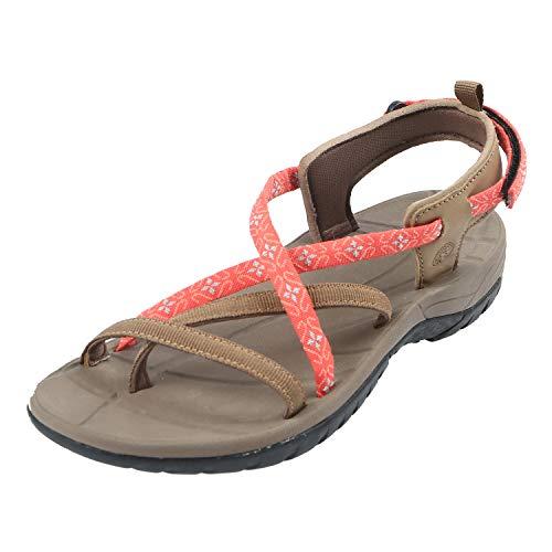 Northside Women's Covina Sandal, Tan/Coral, 6 M US ()