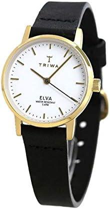 [トリワ]TRIWA 腕時計 エルバ アイボリー 28mm ホワイト×ブラック 革ベルト ELST103-EL010113 レディース [並行輸入品]