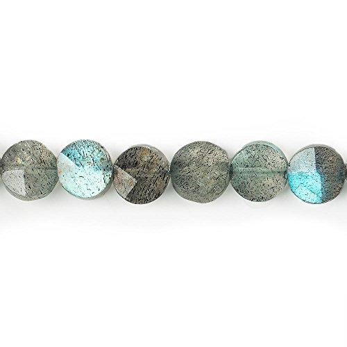 5.5-6mm Labradorite faceted coin beads 13.5 inches 62 pieces