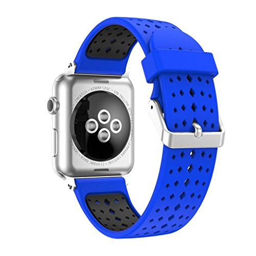 For Apple Watch Silicone Band, Ankola New Fashion Sports Wrist Bracelet Strap Best Sell Watch Band For Apple Watch Series 1/2 42MM 38MM (38MM, Blue)