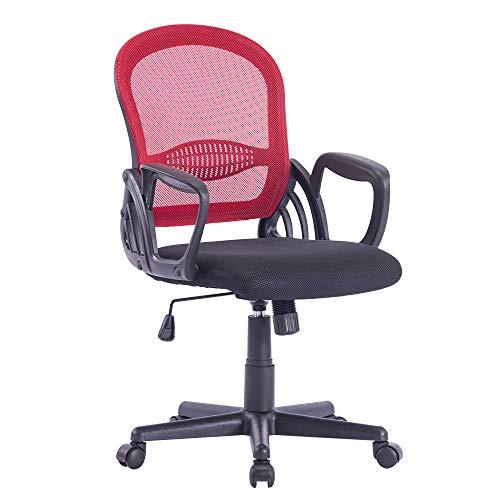 Sidanli Ergonomic Mesh Desk Chair-Red