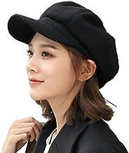 krueis Girl Beret Women Winter Retro Warm Hat Pumpkin Hat Peaked Cap Painter Hat
