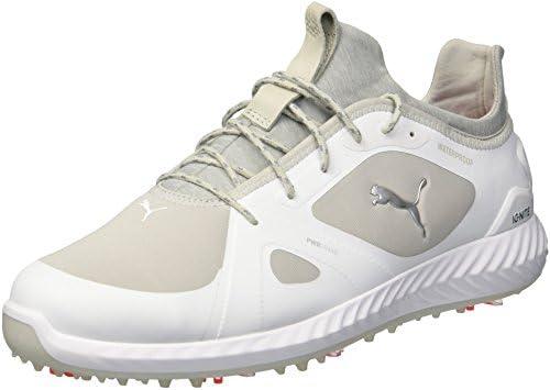Puma Golf Men's Ignite Pwradapt Golf Shoe, Puma White Gray