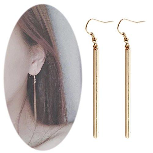 Bar Dangle Threader Drop Earrings Tassel Ear Studs Women Long Linear Simple Hoops Geometric Charm Jewelry Golden Plated