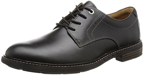 Clarks Unelott Plain - Black Leather