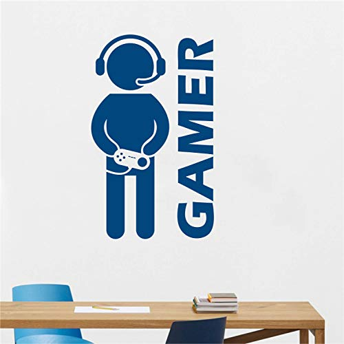 Gamer Wall Decal for Rooms Doors Decoration - Video Game Wall Decal Game Vinyl Art Boys Room Play Room Decoration Game Console Decal Made in USA (Message for Color)