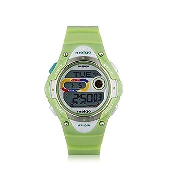 Gamuttek Pasnew LED de alta calidad resistente al agua 100m Deportes reloj digital para niños niñas Boy - verde: Amazon.es: Deportes y aire libre