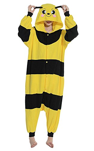 Apiidoo Unisex Bee Animal Party Costumes One Piece Cosplay Pajamas Jumpsuit Pjs S - Cheap Couples Fancy Dress Costumes Uk