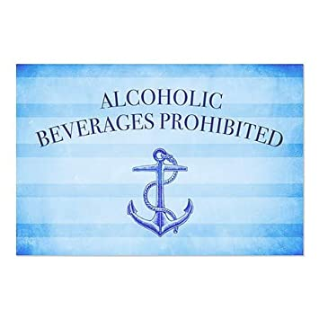 CGSignLab 96x48 Alcoholic Beverages Prohibited Chalk Corner Perforated Window Decal