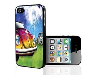 Punch Buggy with Cool Flames Hard Snap on Phone Case (iPhone 5/5s)