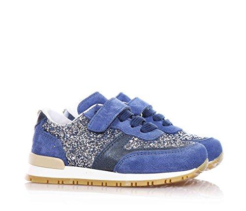 Twin Set Blaue Schuhe mit Schnürsenkel und Klettverschluss, Mädchen