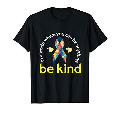 (Autism Awareness Tshirt Kindness Puzzle Ribbon Heart)